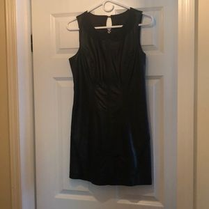 Black Faux Leather Free People Dress